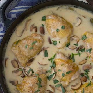 Creamy Mustard Chicken with Mushrooms and Tarragon Recipe