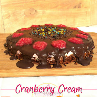 Cranberry Cream Date Cake