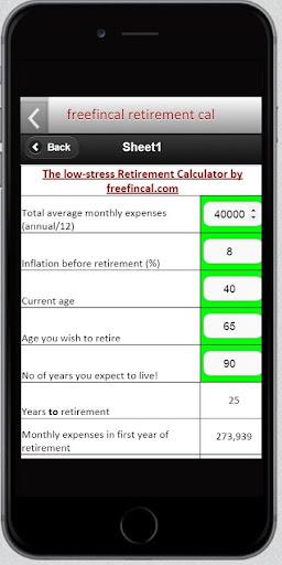Freefincal Retirement Planner for PC