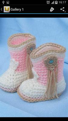 Crochet Pattern Kid Boots - screenshot