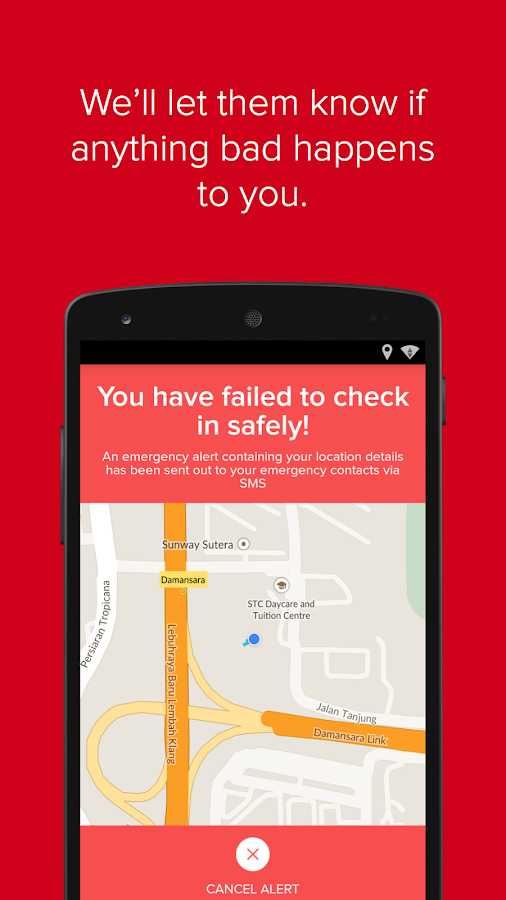Watch Over Me - The Safety App- screenshot