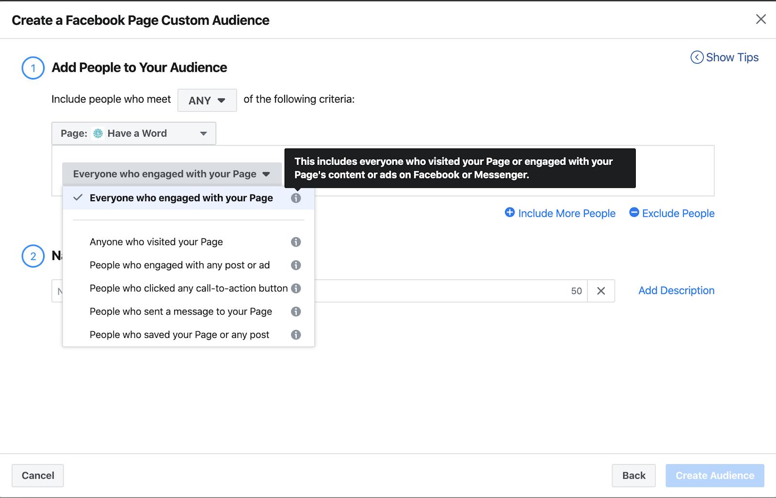 Facebook ads custom audience creation