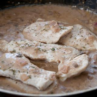 Chicken and Mushrooms in Balsamic Cream Sauce