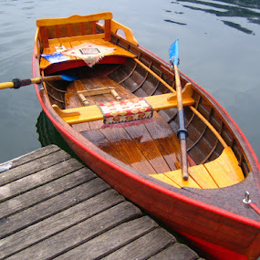 Row, row, row.... by Jacob Uriel - Transportation Boats ( red, bled, boat, rowboat, dock )