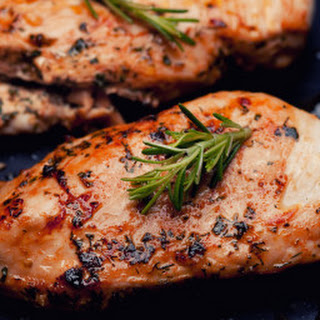 Grilled Chicken Breast with Garlic Lemon Marinade.