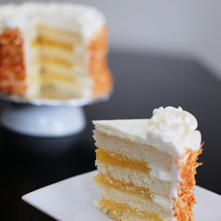 Coconut Layer Cake Filled with Lemon Curd