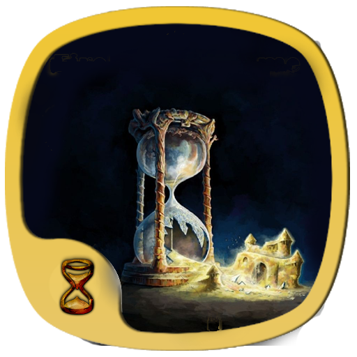 time hourglass gold sand theme