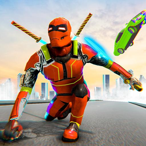 Incredible Grand Robot Hero Street Fighting