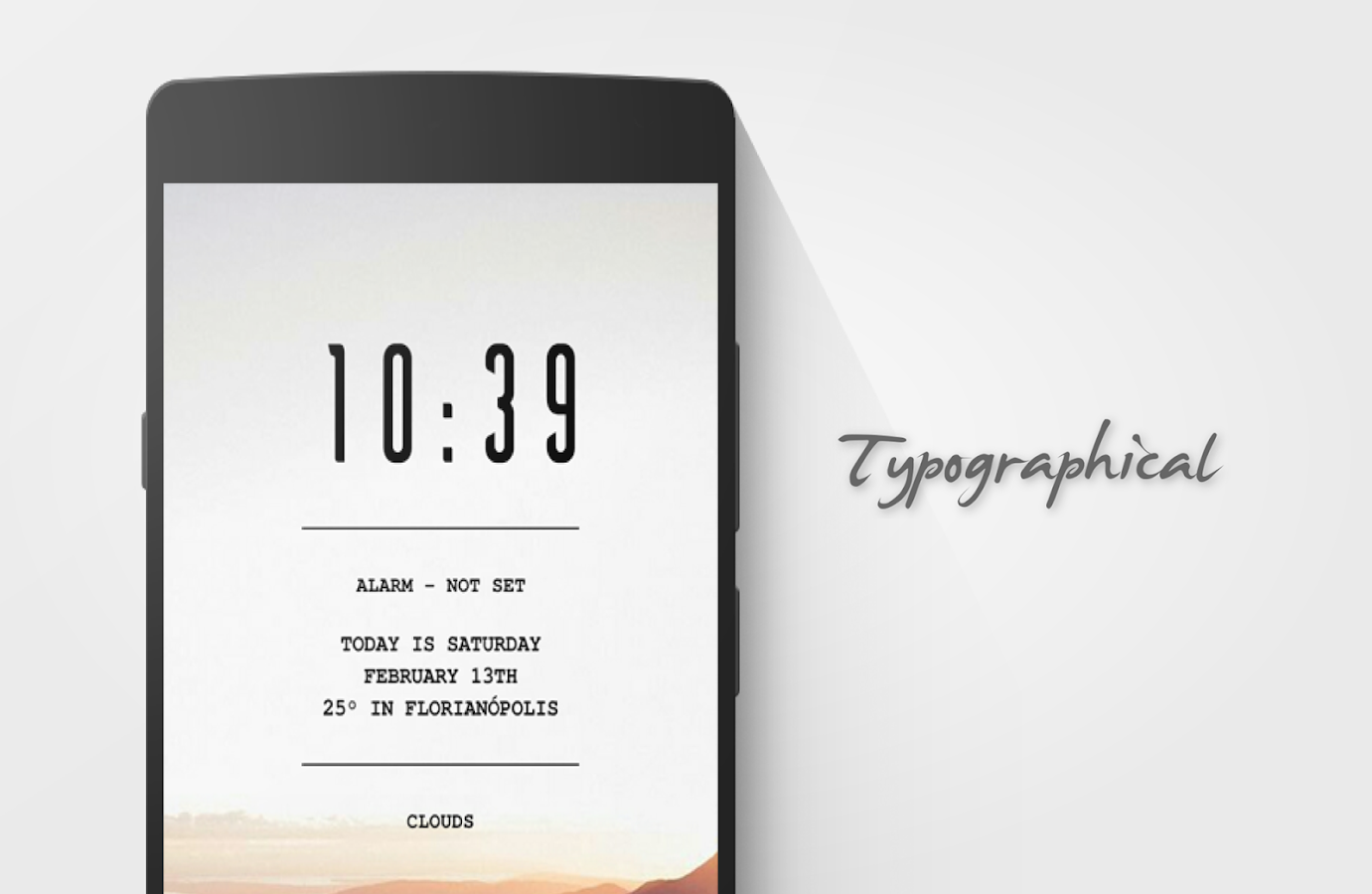 Typographical Zooper Theme- screenshot