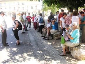 Photo: Gruppenaufteilung für die  Stadtbesichtigung