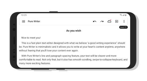 Pure Writer - Never Lose Content Editor & Markdown 17.3.2 Screenshots 3