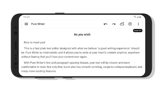 Pure Writer - Never Lose Content Editor & Markdown Screenshot