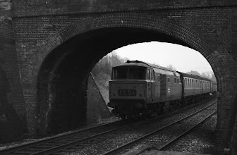 Photo: A down train at Finstock (April 1972)
