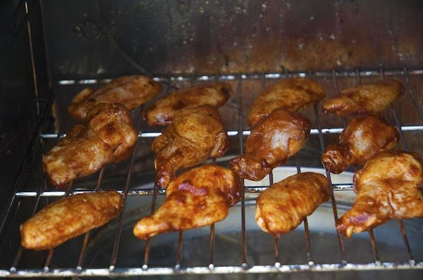 Smoke the wings for about 1.5 to 2 hours, or until the internal temperature...