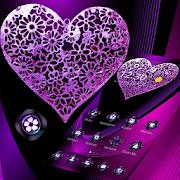 Violet Neon Tech Heart Theme