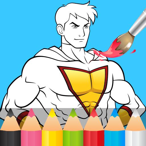 Baixar Super-heróis para colorir para Android