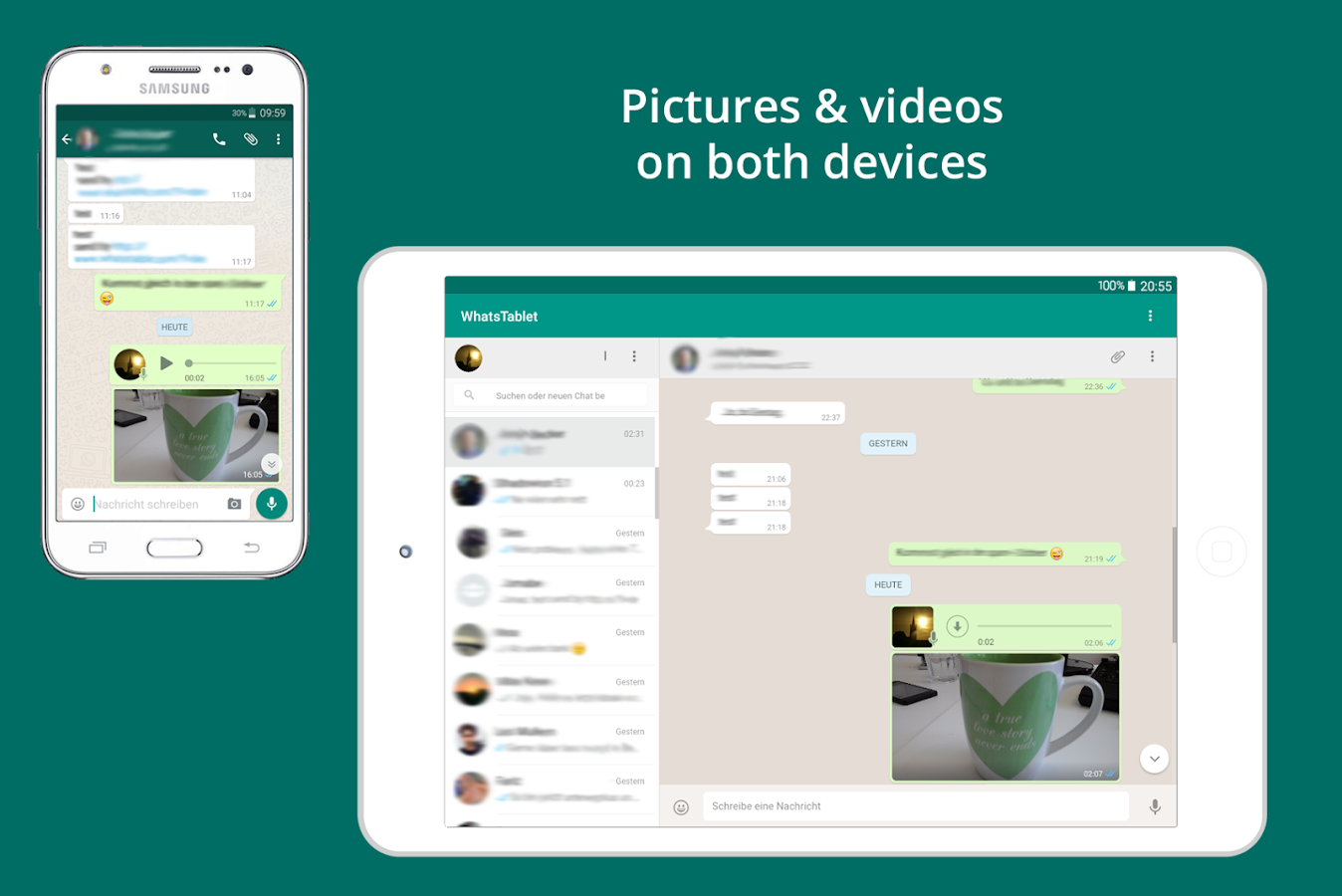 Screenshots of Tablet for WhatsApp for Android