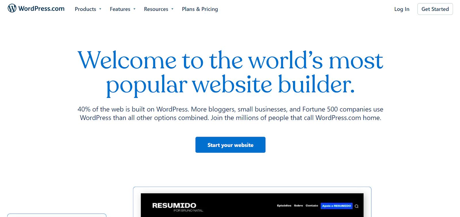 WordPress.com - the world's most popular website builder