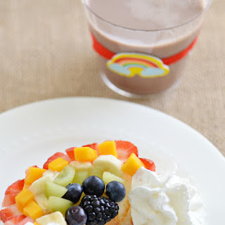Fruit Rainbow Angel Food Cake