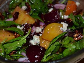 Roasted Beet Salad With Honey Dijon Vinaigrette Recipe
