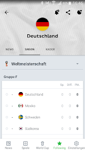 Onefootball WM 2018 News Screenshot