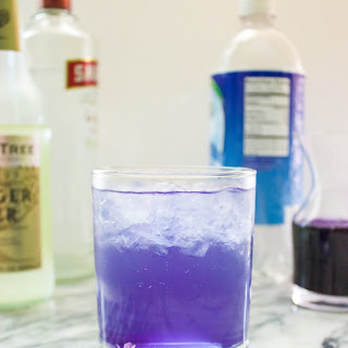 Lilac Ginger Gin Fizz.