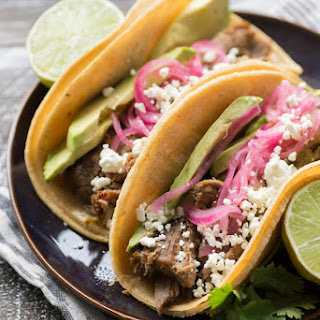 Lamb Carnitas Tacos with Roasted Tomatillo Salsa