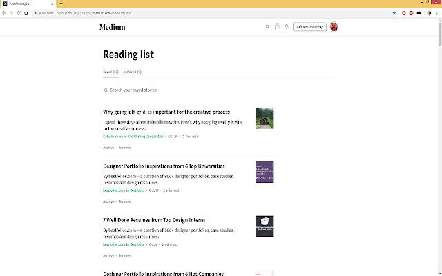 Medium Reading List Manager