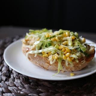 Cabbage, Corn + White Bean Tartine