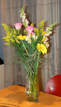 Photo: Tim was very thoughtful and brought flowers for the hosts.