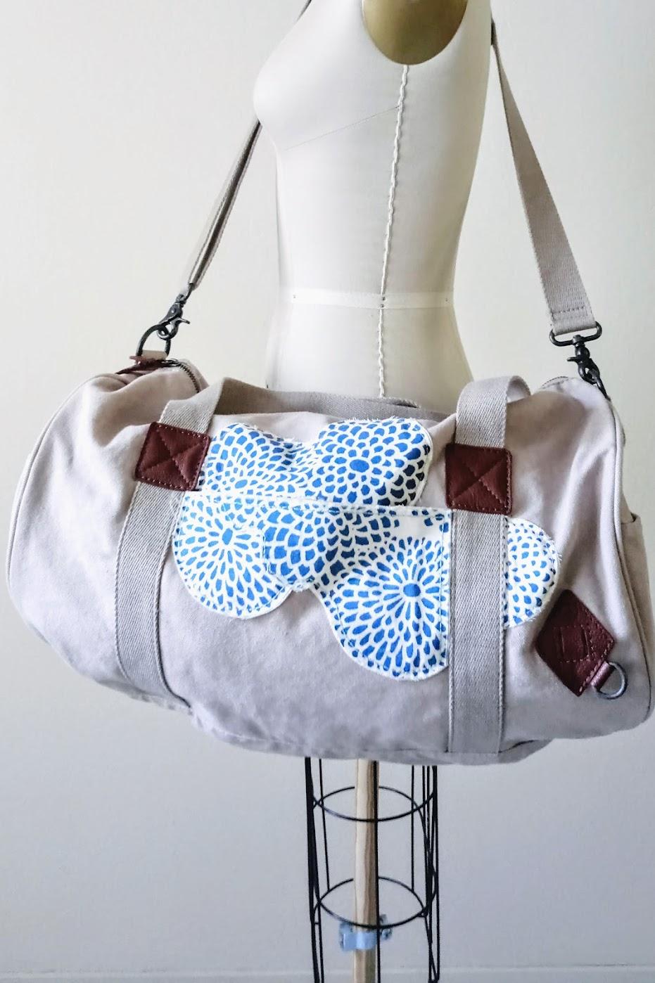 Appliqué Duffle Bag Project - DIY Fashion Accessories | fafafoom.com