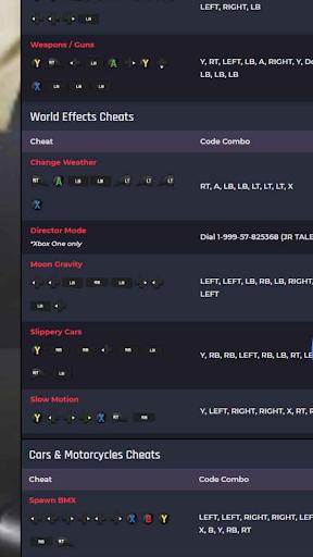 CHEAT CODES FOR GTA V screenshot 8
