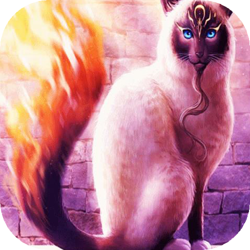 Fiery cat live wallpaper