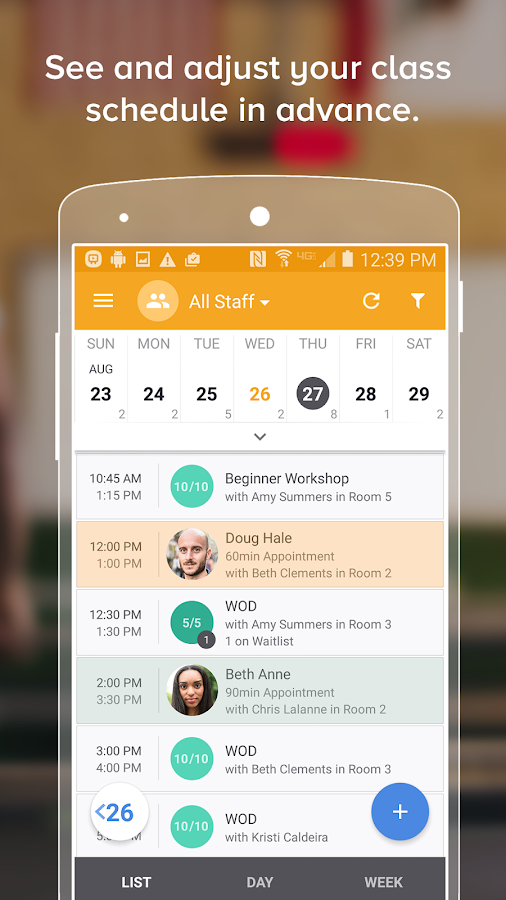 MINDBODY Express- screenshot