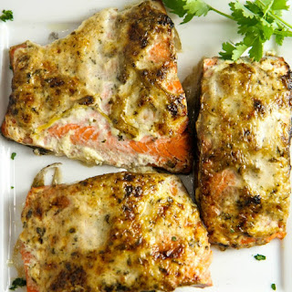 Grilled Salmon with Spiced Mayo