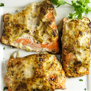 Grilled Salmon with Spiced Mayo.