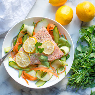 Instant Pot Lemon Garlic Salmon (from frozen!).