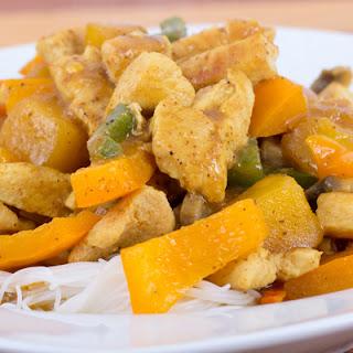 Quick Mango Chicken Curry.