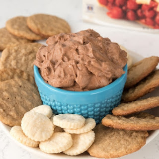 Chocolate Cream Pie Dip with Krusteaz Pie Crust and Cookie Dippers.