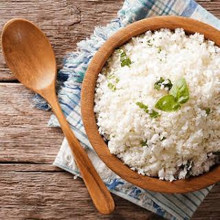 """Cauliflower """"Rice""""."""