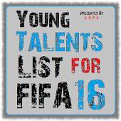 Young Talents List - FIFA 16