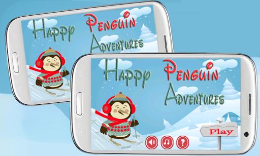 ハッピー ペンギンの冒険 - スキー-