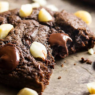 Soft and Chewy Double Chocolate Chip Cookies.