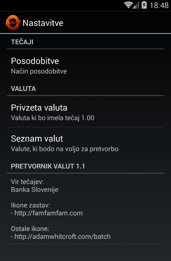 Pretvornik valut- screenshot