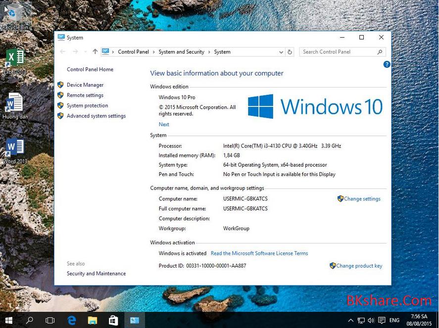Ghost Windows 10 64bit Pro RTM dành cho máy UEFI