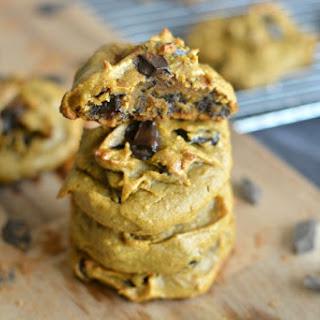Pumpkin Peanut Butter Chocolate Chip Cookies