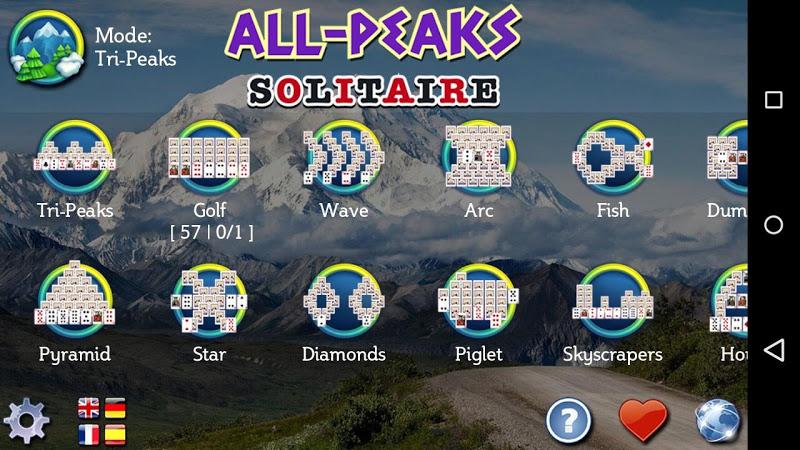 All-Peaks Solitaire Screenshot 8