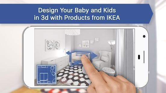 3D Baby & Kids Room for IKEA: Interior Design Plan - náhled