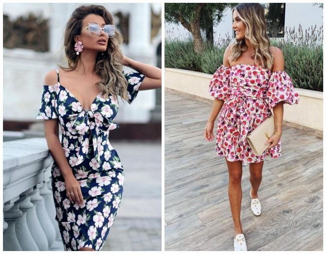 Dresses with flower