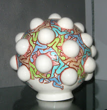 """Photo: """"Cooperation"""" A class assignment to create an object with at least ten ping pong ball castings."""